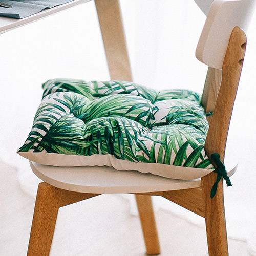 Tissus coussins motif tropical