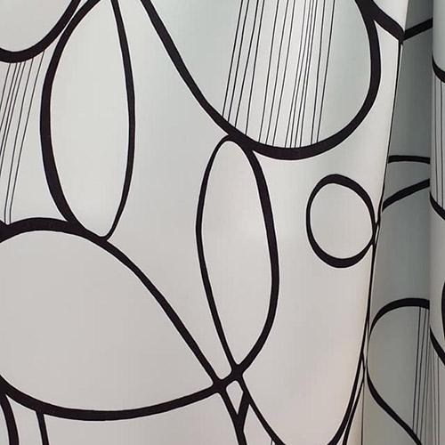 Tissus rideaux et stores noir et blanc