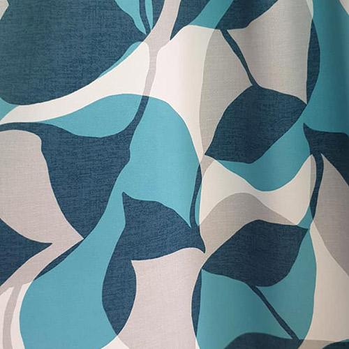 Tissus rideaux et stores motif végétal bleu