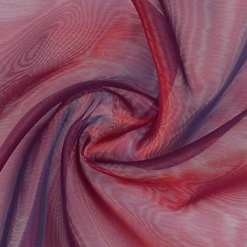 Tissus voilages rouges