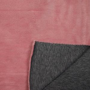 Tissus enfant polaire rose et noir