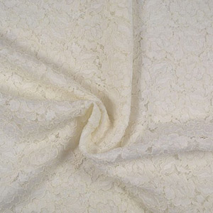 Tissus haute couture dentelle blanche