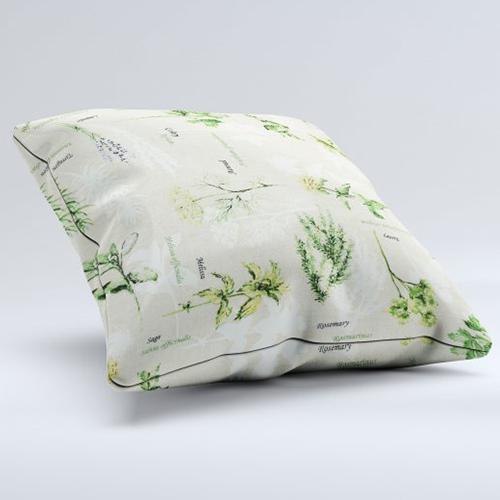Tissus coussins motif végétal