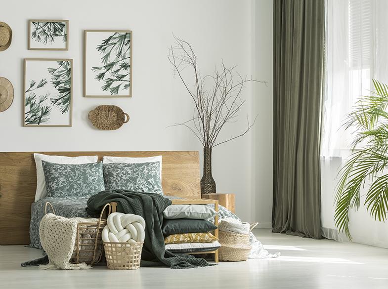 Tissus décoration coussins chambre