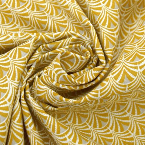 Tissus rideaux et stores jaunes